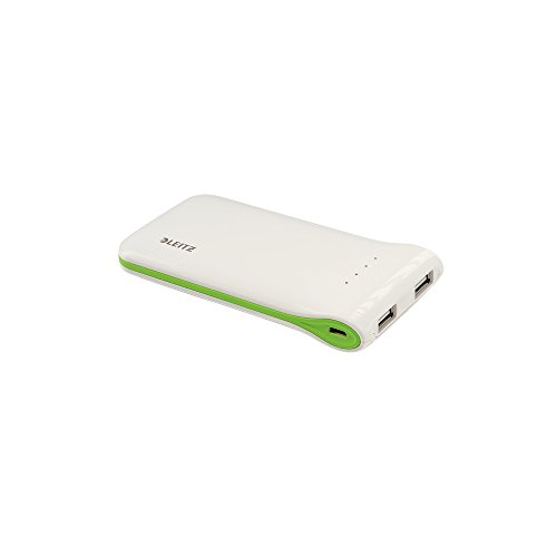 Leitz, Universal USB Powerbank, 2 USB-Ausgänge, 5000 mAh, Complete, Weiß, 64130001