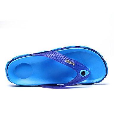 Rtry Unisex Slippers & Amp; Chanclas Comfort Soles Light Pvc Verano Otoño Casual Comfort Walking Light Flat Tachonado Heelroyal Azul Claro Us8.5-9 / Eu41 / Uk7.5-8 / Cn42