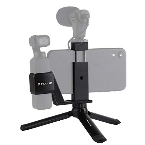 Upxiang für DJI OSMO Pocket Zubehör Set Mini Desktop Metall Stativhalterung Telefonklemmhalterung Stativhalterung Langlebig Actionkameras Extension Accessories (A) Fixed-mount Extension Kit