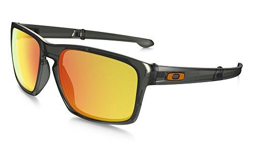 Oakley Sonnenbrille Sliver, Matte Olive Ink W/Fireiridpolar, One size, OO9246-06 (Oakley Sonnenbrille Grün)