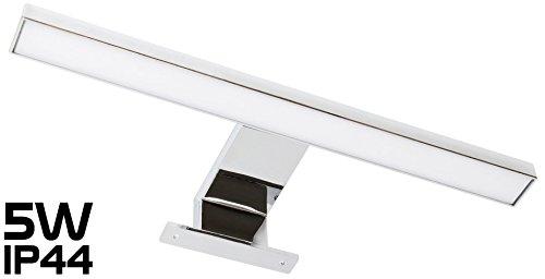Éclairage LED pour miroir de pièce humide, en aluminium IP44 305mm 230V4,5W 220lm Blanc chaud 3000K