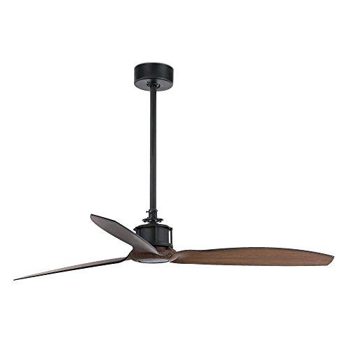 Faro 33395 - Just Fan Ventilateur De Plafond Noir/Bois Avec Moteur Dc