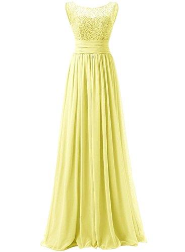 AZBRO Damen Blumenmuster Ohne Ärmel A-Linie Kleid Yellow