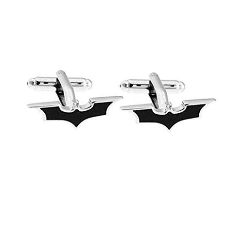 Sorella'z Mens Stainless Steel Black Batman Cufflinks