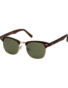 All Cheap Sunglasses - Liverpool - Gafas de Sol Clubmaster montura Negro y lentes Verdo unisex