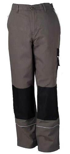 TMG - Pantaloni da lavoro stile cargo - tasche per ginocchiere - Tedesco Qualità - grigio (W32 R / EU48)