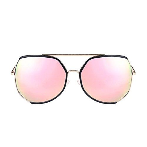 H.ZHOU Sonnenbrillen Big Frame Sonnenbrille Female Retro Runde Gesicht Lange Gesicht UV-Schutz Sonnenbrillen (Farbe : 5)