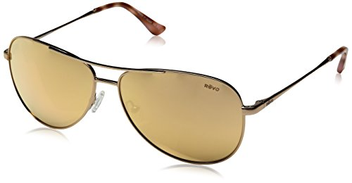 Revo Relay RE 1014 Women s Polarized Aviator Sunglasses Rose Gold Champagne