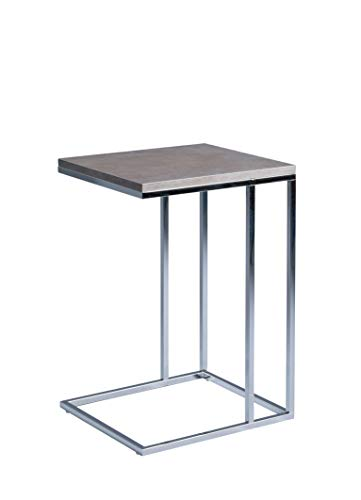 Hometrends4you Cora Table D Appoint En Panneau Mdf Aspect Ceramique Gris 38 X 43 Cm Hauteur 62 Cm