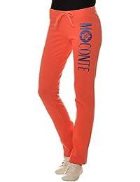 M.Conte Jogginghose Damen Freizeit Sweathose Sweatpants Sporthose  Trainingshose Jogger ohne Bündchen, lang Jersey-Hose im Sport-Stil mit… 92e584e56a