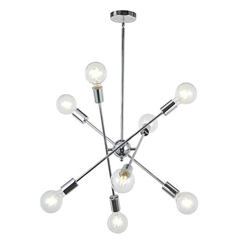 JAG Moderner Kronleuchter, LED Metall Pendelleuchte Nordic Fashion Glas Deckenleuchte für Esszimmer Wohnzimmer Küche Flur Loft Schlafzimmer, Gold -