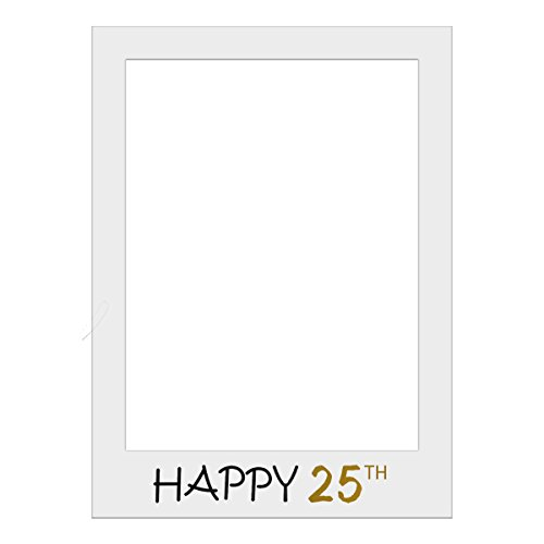 1 Piece Large Size Happy 25th Birthday Party Props Photo Booth Frame ...