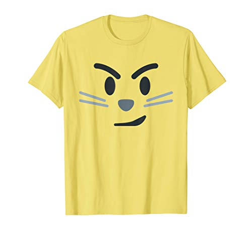 Kostüm Coole Halloween Gruppe - Katzenzwinkern Lächeln Emoji Lustig Halloween Gruppe Kostüm T-Shirt