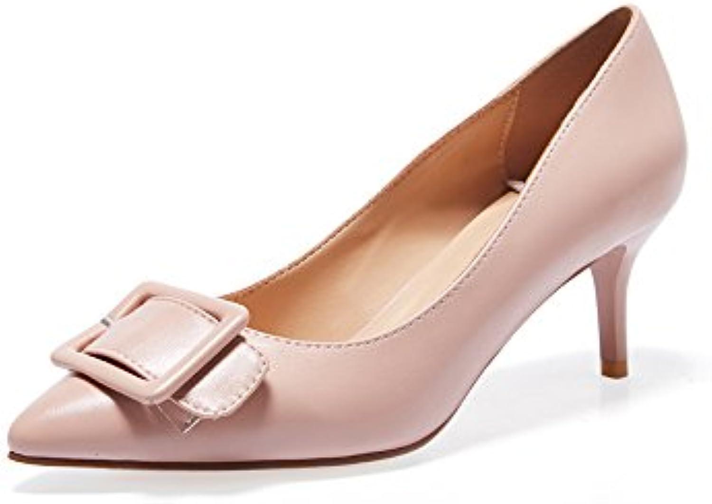 881212163af YQQ Ladies High Heels Women s Women s Women s Sandals Pointed Fashion  Baotou Shoes Single Shoes Lady Cozy