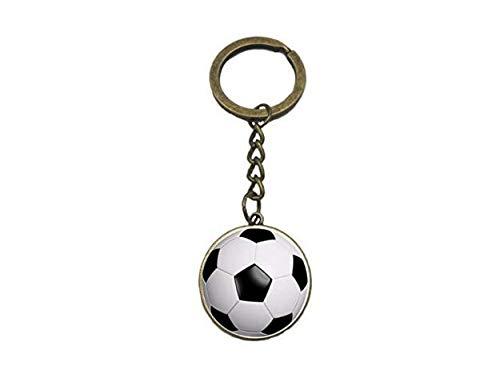 Baseball-Schlüsselanhänger aus Glas und Metall, lässiger Sport, für Herren und Damen, Ball-Fans, Schlüsselanhänger, Ring-Halter, Auto-Schmuck