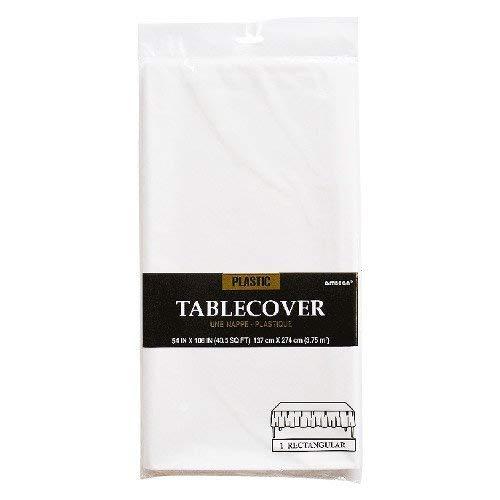 amscan International Tischdecke, Kunststoff, rechteckig, Frosty White (Aus Kunststoff Tischdecken)