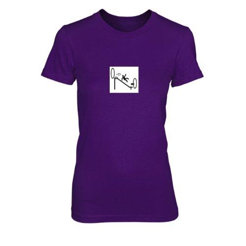 Portal Endless Slide - Damen T-Shirt, Größe: XL, Farbe: - Glados Cosplay Kostüm