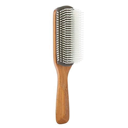 Spazzola per capelli Massaggio Natura Bamboo Materiale superiore antistatico per uomo Spazzole per capelli professionali per lisciare i capelli Nove