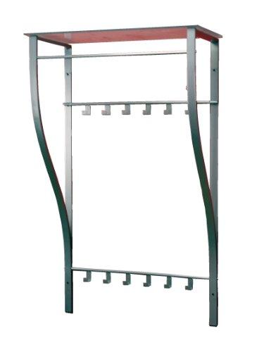 iovivo Wandgarderobe aus Stahlrohr mit Sprossenablage 66X30X110 CM