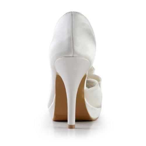 Jia Jia Wedding 3704A chaussures de mariée mariage Escarpins pour femme Beige
