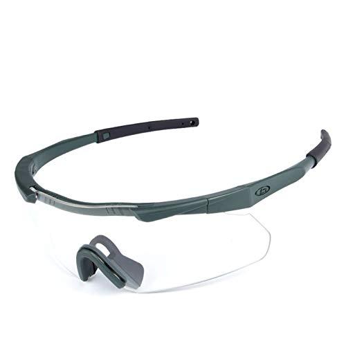 Bishilin Brille Motorrad Herren Sportbrille Polarisiert Arbeitsbrille Schutzbrille Schutzbrille Zum Schießen Grün