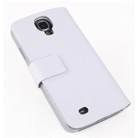 """Housse Support en vrai cuir couleur blanc pour Samsung Galaxy S4 IV I9500 9505 5"""""""