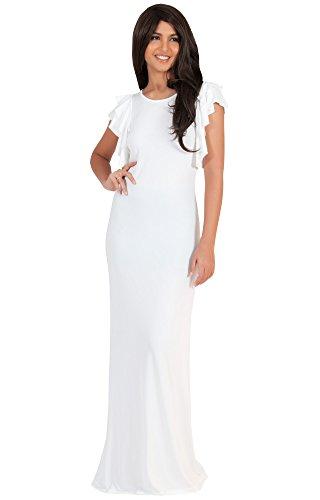 koh-kohr-femmes-robe-longue-manches-courtes-amincissante-ebouriffee-en-couches-couleur-blanc-taille-