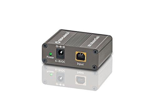 Oehlbach XXL® MasterClock I Jitter Cleaner & High-End USB-Powerfilter I Störungsfreie Spannungsversorgung und jitterfreier Datenstrom – metallic braun