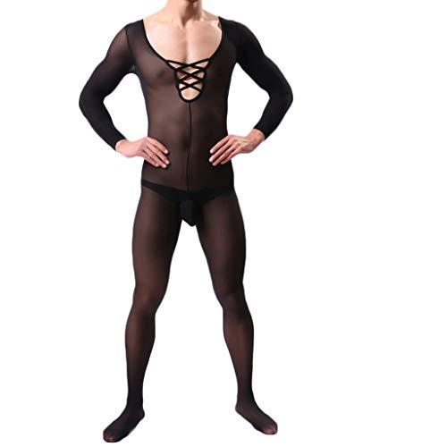 ALISIAM Socken Dessous Männer Sirene Mesh Sexy Sirene Socken Unterwäsche Ultradünne Pyjamas Herren Bodysuit Ganzkörper Anzug Einteiler Bodysuit - Männliche Thong Spitze