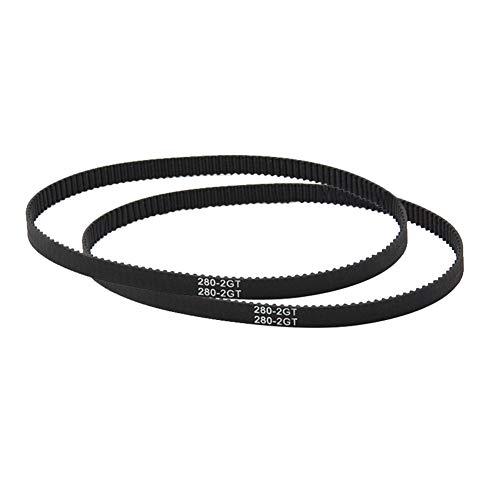 Parti e accessori per stampante 3d, huhuswwbin gt2 cinghia dentata a circuito chiuso 110-852mm 6mm larghezza gomma sincrona 3d parti della stampante - gt2-400mm nero