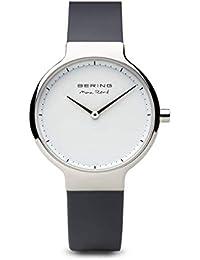 BERING Reloj Analógico para Mujer de Cuarzo con Correa en Silicona 15531-400