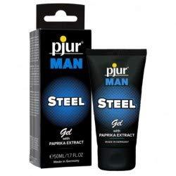 pjur MAN Steel Gel - Erektionscreme mit Paprika und Menthol - zum Auftragen auf den Penis - regeneriert und belebt die Haut - 1er Pack (1 x 50 ml)
