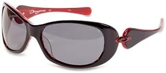 oakley dangerous sunglasses womens  oakley dangerous women's sunglasses black & red frame/grey lens: amazon.co.uk: clothing
