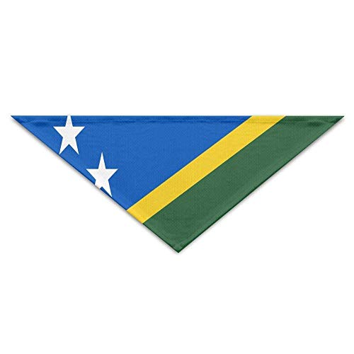 Island Kostüm Mädchen - Sdltkhy Flag of The mon Islands Bandana Triangle Neckerchief Bibs Scarfs Accessories for Dogs & Cats