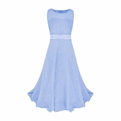 TWIFER Mädchen Kleidung Spitze Hochzeit Brautjungfer Festzug Prinzessin Maxi Party Kleid