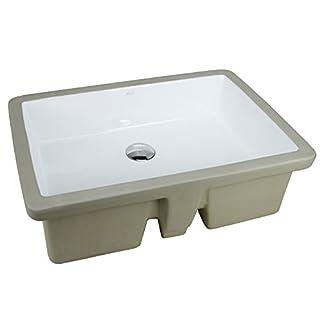 LARGE ARIEL 22 Inch Rectrangle Undermount Vitreous Ceramic Lavatory Vanity Bathroom Sink Pure White RP595P