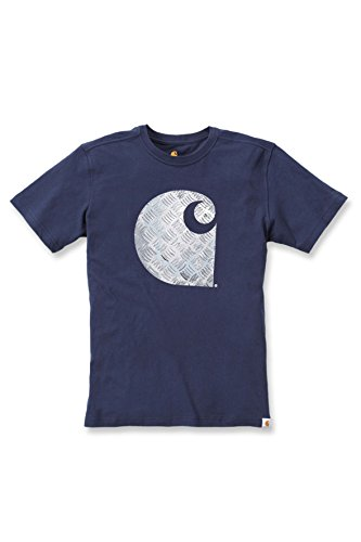"'Carhartt T-Shirt da uomo lavoro maglietta ""Maddock Graphic Branded C-Navy M"