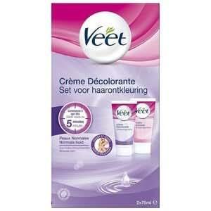 Veet - Crème décolorante corps et visage - 2x75ml