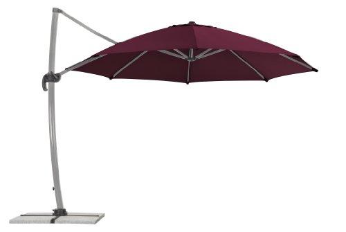 Schneider Sonnenschirm Rhodos Rondo, bordeaux, 350 cm rund, Gestell Aluminium, Bespannung Polyester,...