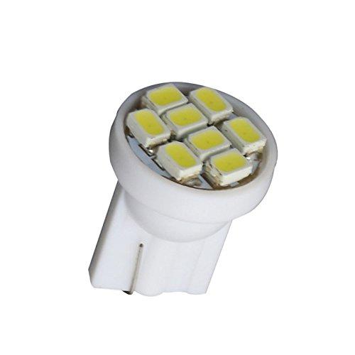 ZGMA 10pcs T10 Automatique Ampoules électriques 1W 60lm 8 Clignotants For Universel White DC12V T10