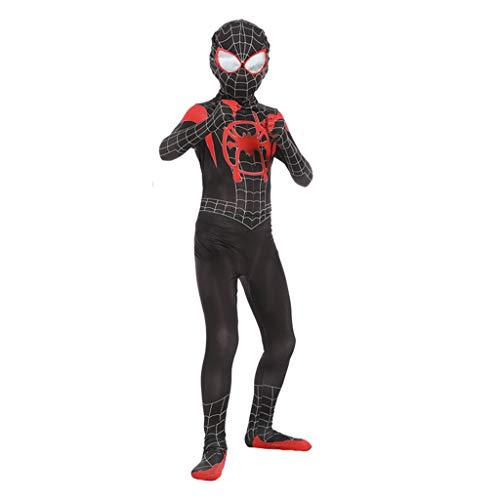 ay Kleidung Kinder Kleine Schwarze Spinne Anime Kostüme Dress Up Zentai Jumpsuit Siamese Strumpfhosen 3D Druck,Black-L ()