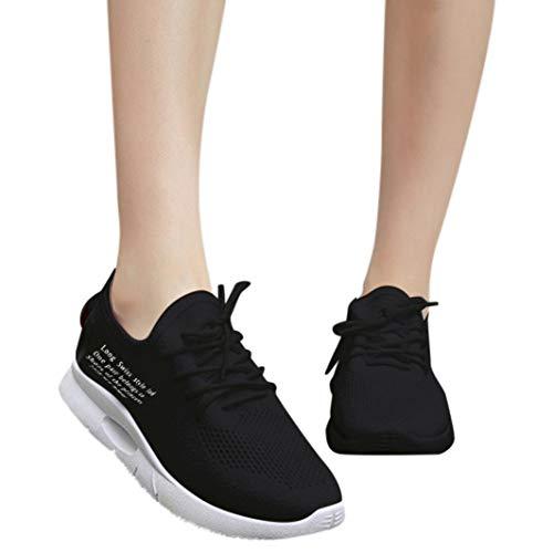 Sneaker Damen Laufschuhe Lässige Sportschuhe Turnschuhe Wanderschuhe Flats Mesh Running Sneaker Schuhe Freizeitschuhe Outdoor Schuhe Sneaker Frauen Flache Schuhe,ABsoar