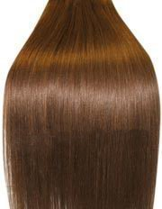 Clip-In-Extensions für komplette Haarverlängerung - hochwertiges Remy-Echthaar - 120 g - 50 cm - Mittelbraun - 6