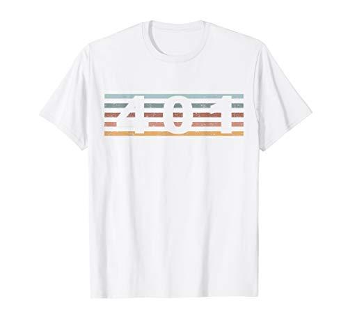 401 Vorwahl Retro Rhode Island Cranston T-Shirt