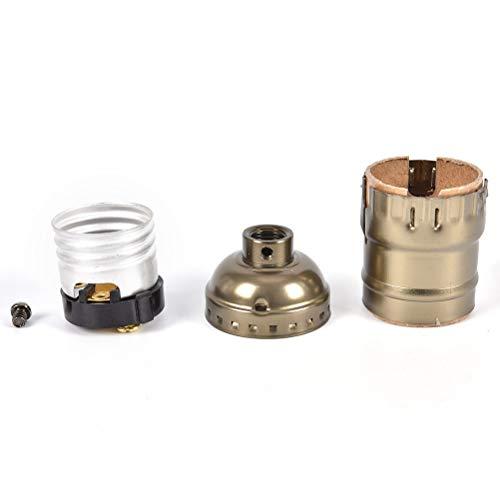 E27 Holder Lamp - Aluminum Shell Base Lamp Bulb Holder Pendant Lighting Socket E26 E27 Retro Vintage Edison Screw - Cord Medium Drywall Gu10 Clamp Turn Pipe Ceiling Black Reptile Dome Projector