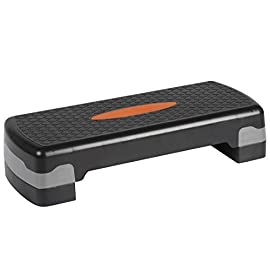Ultrasport Step, Stepper per Aerobic Fitness, Altezza Regolabile Unisex Adulto