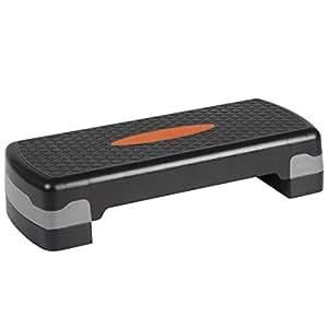 Ultrasport Step d'aérobic, réglable en hauteur, orange/noir
