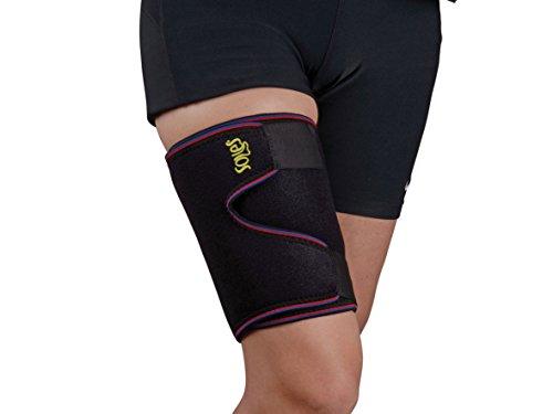 Oberschenkel Bandage & Unterstützung bei Soles - Einstellbare, atmungsaktiv, Hochwertige Neopren Hülle - Unisex, Einheitsgröße -Oberschenkel Schmerzen reduziert und verbessert die Blutzirkulation - Komfortables Design