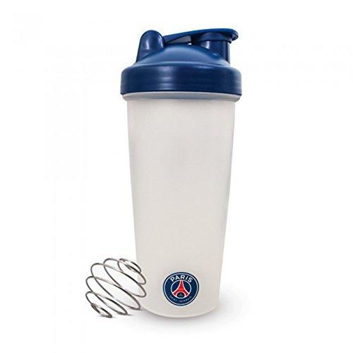 Paris Saint Germain FC Official - Botella mezcladora de proteínas con escudo del equipo (Talla Única/Blanco/Azul)