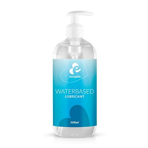 EasyGlide Gel Lubricante Sexual a Base de Agua (500 ml) Geles sexuales seguros de usar con condones de látex y juguetes de silicona